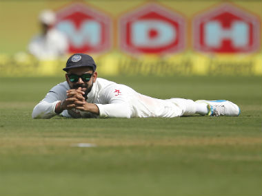 Virat Kohli will look to inspire his side to post a comeback in the second session. AP