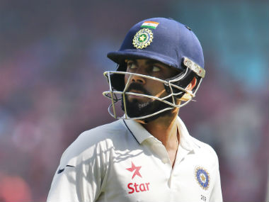 Virat Kohli scored 246 runs (167 and 81) in the second Test at Vizag. AP
