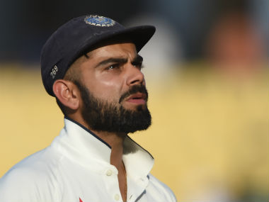 The look of tension is something that we have not seen too often on Virat Kohli's face in recent times. AFP