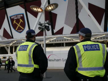 West Ham's unruly crowd behaviour has caused there to be an added police presence at the stadium. AFP