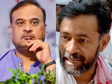 Himanta Biswa Sarma and Yogendra Yadav