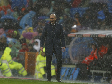 Zinedine Zidane during Real Madrid's match against Sporting Gijon. AP