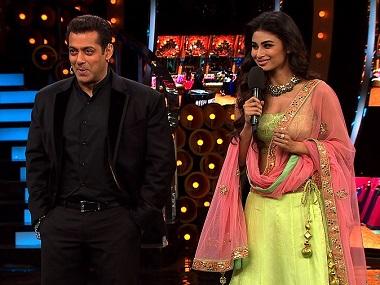 Salman with Mouni Roy