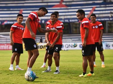 Bengaluru FC players in training ahead of the final. Image courtesy: Facebook