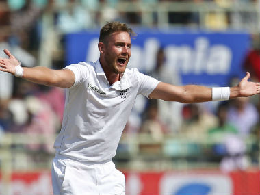 Stuart Broad appeals on Day 4 of England's 2nd Test in Visakhapatnam. AP