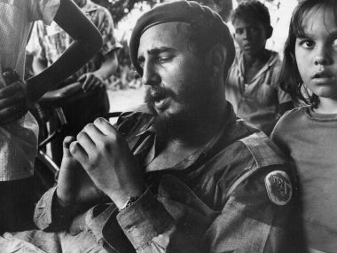 A file photo of Fidel Castro at a sugar plantation near Havana. GettyImages