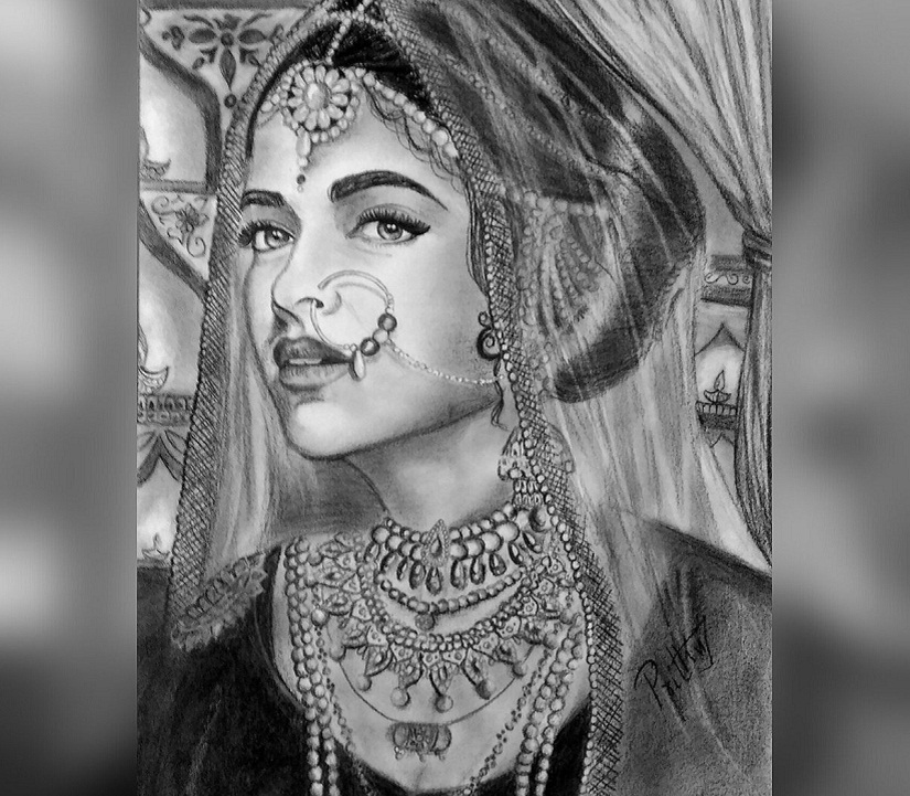 Deepika Padukone's 'look' from Padmavati. Image courtesy Twiter