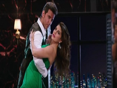 Hrithik Roshan and Jacqueline Fernandez in a still from their new ad film .