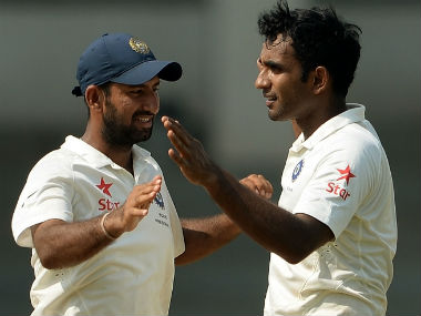 File photo of Jayant Yadav (R). AFP