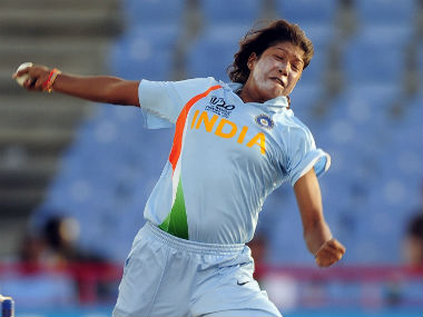 File photo of Jhulan Goswami. AFP