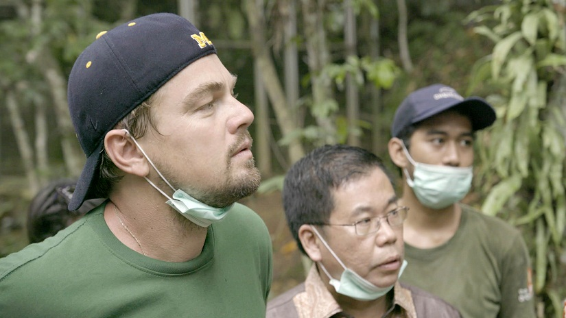 Leonardo DiCaprio in a still from the documentary 'Before The Flood'