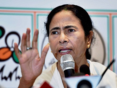 Kolkata: West Bengal Chief Minister and TMC Supremo Mamata Banerjee addresses media after her party's win in the Assembly elections at her Kalighat residence in Kolkata on Thursday. PTI Photo by Swapan Mahapatra(PTI5_19_2016_000262B)