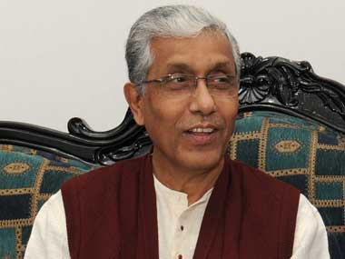 Tripura chief minister Manik Sarkar still enjoys widespread popularity. Image courtesy: Press Information Bureau