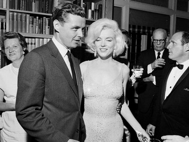 Marilyn Monroe in the auctioned dress. AP