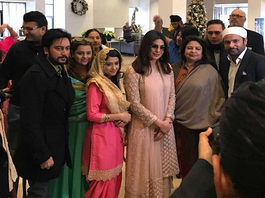Priyanka Chopra along with the team of Sarvann at the trailer launch in Canada.