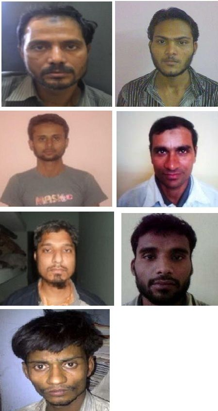Akeel Khilji, Amazad, Mujeeb Sheikh, Mohammad Salik, Khalid Ahmed, Sheikh Mehboob and Zakir Hussain are seven of the SIMI operatives killed in encounter. Firstpost/Shams Ur Rehman Alavi