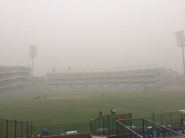 The matches cancelled were group A league encounter between Bengal and Gujarat at the Feroz Shah Kotla and group C match at Karnail Singh Stadium between Tripura and Hyderabad. Image courtesy: Twitter/@shreevats1