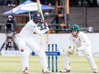 Sri Lanka's Upul Tharanga in action during second day of the first Test against Zimbabwe. AFP