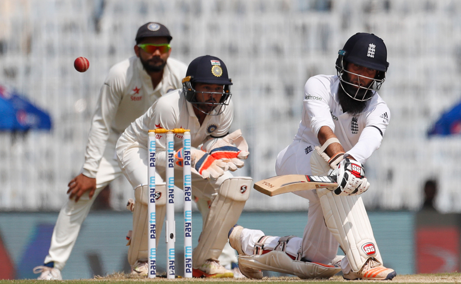 India vs England: Moeen Ali's unbeaten ton lifts visitors on Day 1 at Chennai