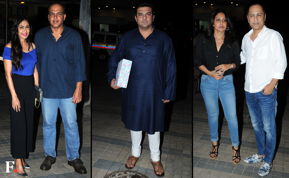 Ashutosh-with-wife,-Siddharth-Roy-Kapoor,-Vipul-Shah-with-Wife-Shefali