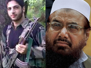Burhan Wani (left) and Hafiz Saeed. Agencies