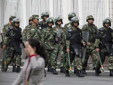 File photo of the Chinese Paramilitary force. Reuters