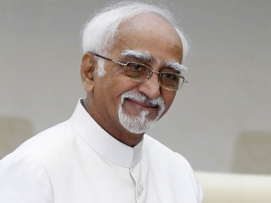 File imaghe of Vice-President Hamid Ansari. Reuters