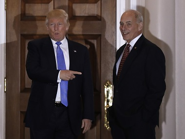 File image of President-elect Donald Trump and Marine General John Kelly. AP