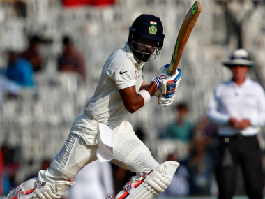 India's KL Rahul plays a shot during Day 2 of the 3rd Test. Reuters