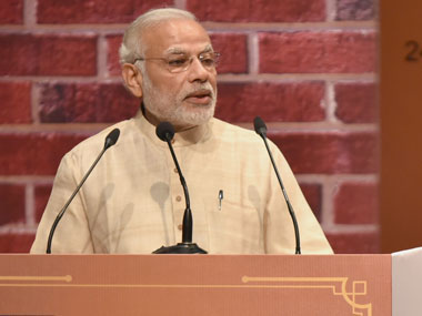 Prime Minister Narendra Modi  addressing at the inauguration of new campus of National Institute of Securities Markets (NISM), at Patalganga, in Mumbai on 24 December 2016. Image courtesy PIB