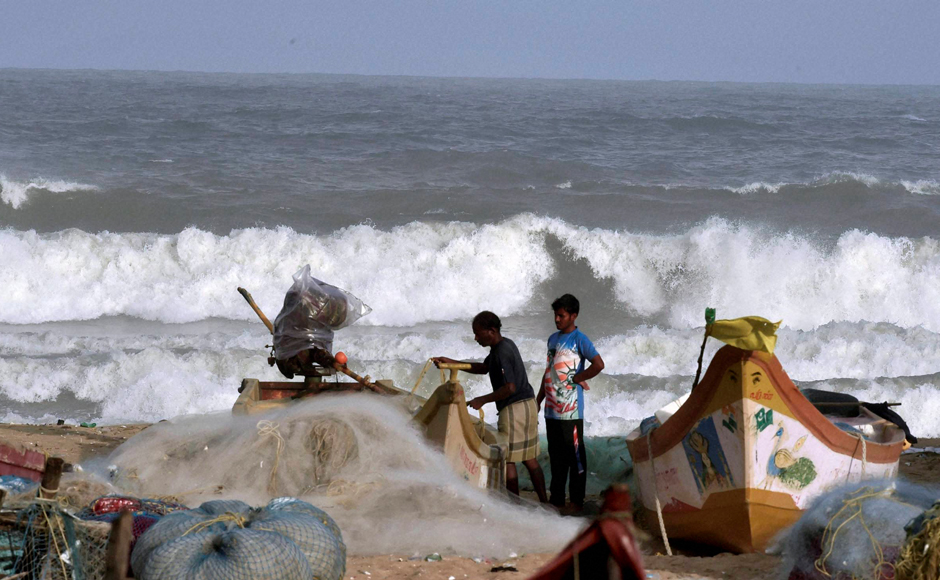 The storm currently lays centred about 1070 km east-southeast of Chennai, 1030 km east-southeast of Puducherry and 720 km east-southeast of Trincomalee (Srilanka). (Photo: PTI)