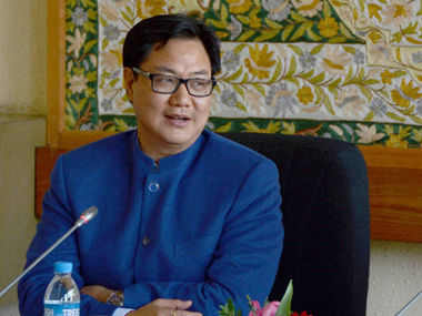 File image of Minister of State for Home Kiren Rijiju. PTI
