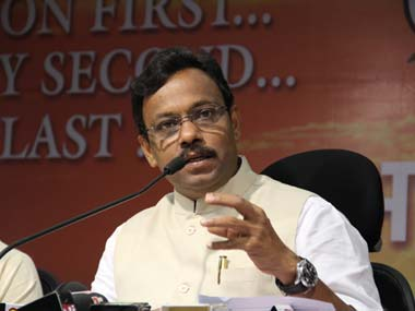 File photo of Vinod Tawde. PTI