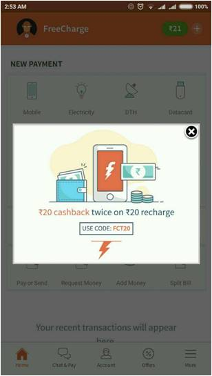 FreeCharge is wearing Santa pants with a twoday 100 cashback bonanza