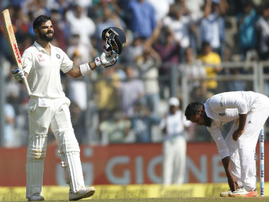 Virat Kohli, after his double century in the 4th Test between India and England in Mumbai. AP