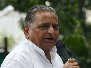 Samajwadi Party chief Mulayam Singh Yadav.