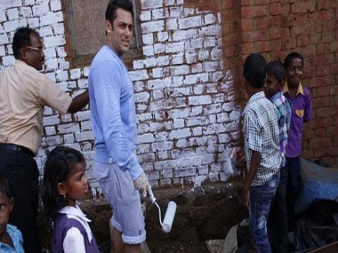 File photo: Salman Khan in a Swachh Bharat Mission event.