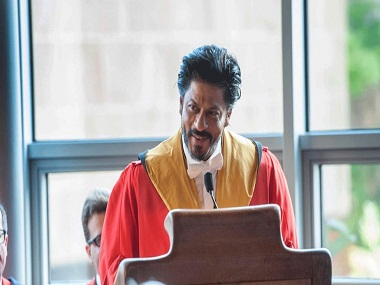 File photo: Shah Rukh Khan delivering a speech at the University of Edinburgh Image courtesy: Reuters