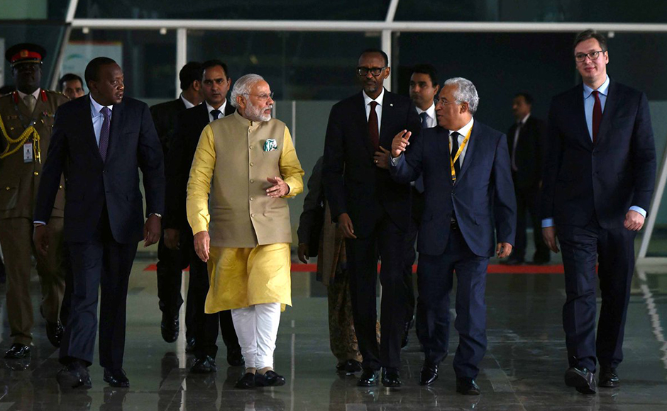 PM Modi meets foreign dignitaries on sidelines of Vibrant Gujarat Summit in Gandhinagar
