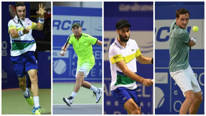 The four Chennai Open semifinalists.