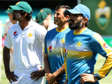 Misbah-ul-Haq and Co wear a dejected look on their faces after getting whitewashed 0-3 by Australia. Getty Images