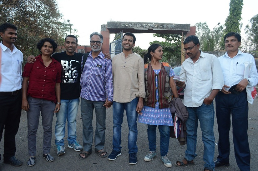 Members of the Kabir Kala Manch after their release from prison