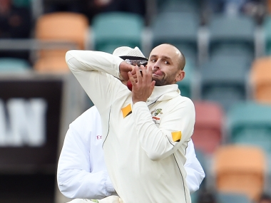 File photo of Nathan Lyon. AFP