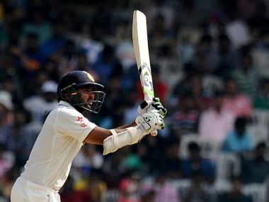 India's Parthiv Patel plays a shot against New Zealand. AFP