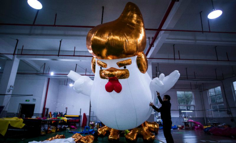 Bigly Yuge Donald Trump chickens will help China factory usher in Year of the Rooster
