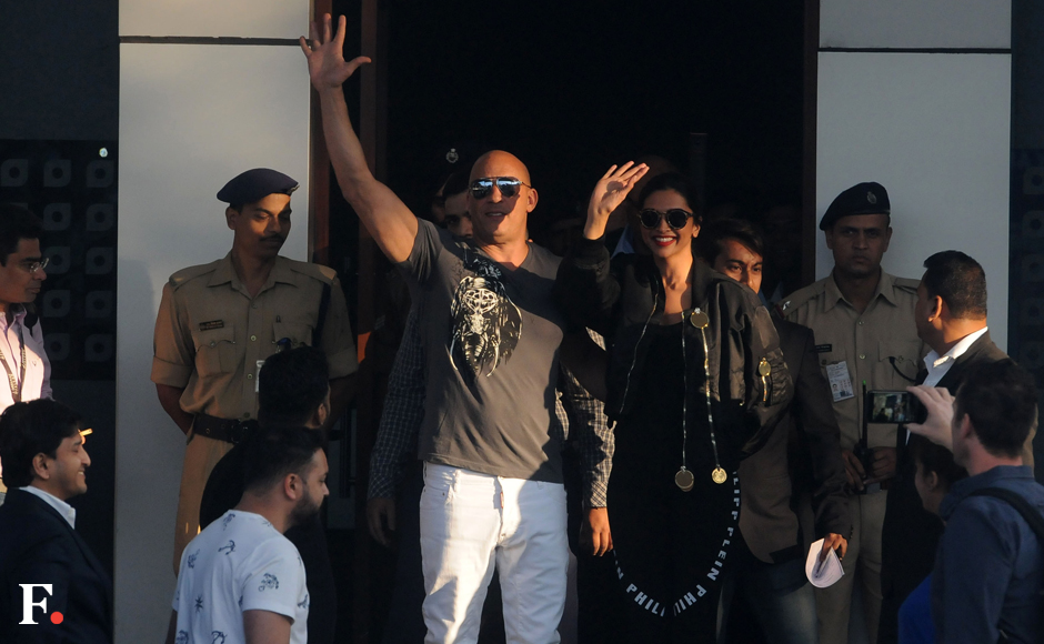 Vin Diesel arrives in India to promote xXx: Return of Xander Cage with co-star Deepika Padukone