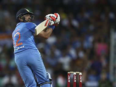 Yuvraj Singh during the T20 match against Australia in January 2016. AP