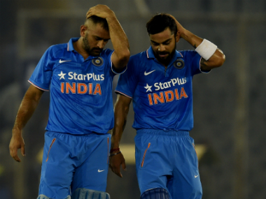 File photo of MS Dhoni and Virat Kohli. AFP