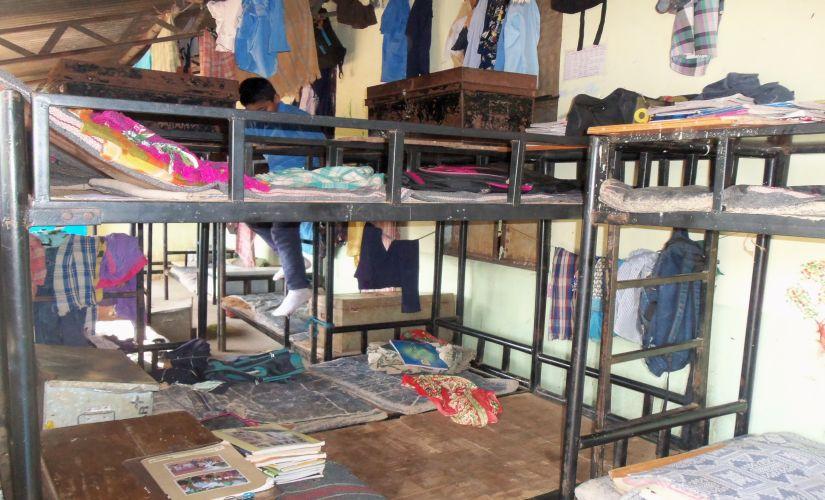 Living facilities at a tribal school in Maharashtra. Photo courtesy: Pramod Pawar.