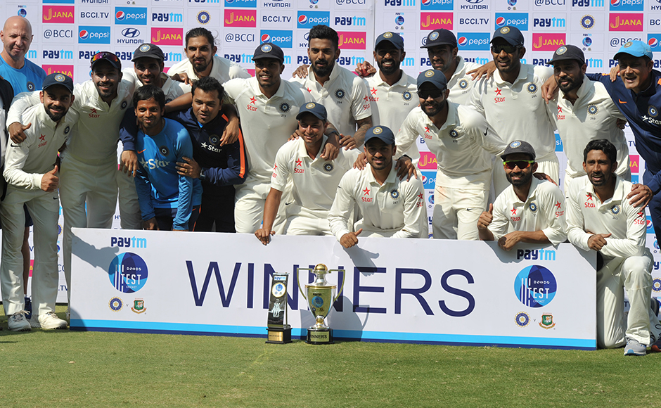 India defeat Bangladesh in one-off Test,  continue their domination at home